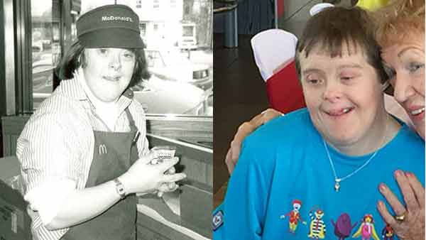 CONGRATS, FREIA!! A McDonald's employee with Down syndrome retired today after 32 years