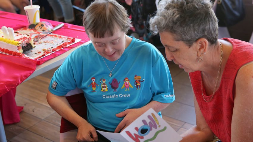 Needham McDonald's worker with Down syndrome retires after 32 years
