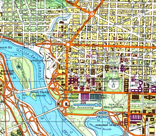 Check out these incredibly detailed Soviet-made maps of D.C.