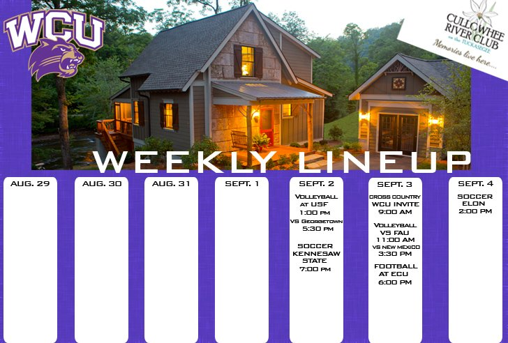 Catamount Weekly Line-up  (9-416)