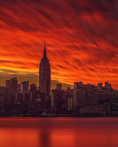 What an incredible sunrise! Thanks to Instagram user @beholdingeye for sharing with abc7ny!