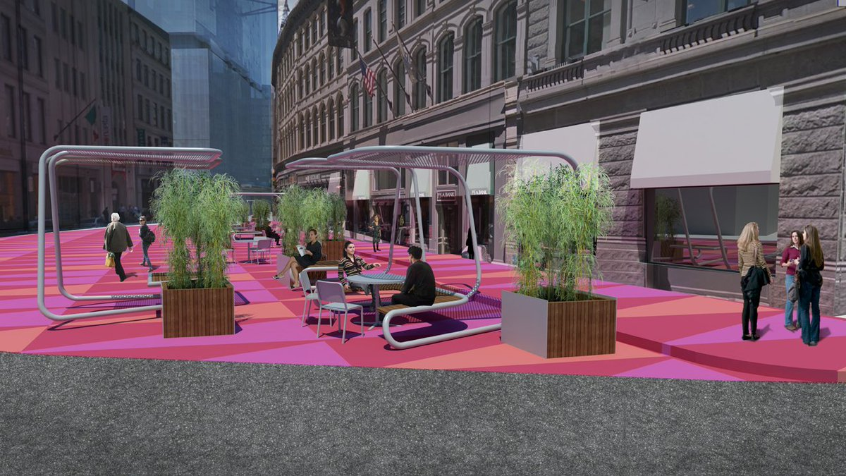 Boston to test pop-up plaza in street at Downtown Crossing tomorrow morning