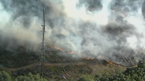 2-acre brush fire burning in Wilmington