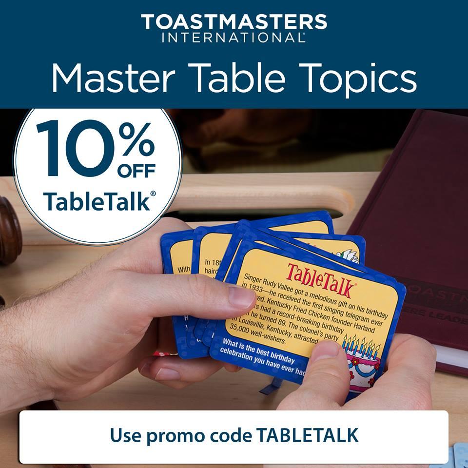 Toastmasters On Twitter Toastmasters Master Table Topics
