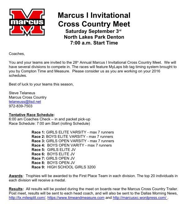 2016 XC season is finally here! Marcus I Invitational, Saturday the 3rd, North Lakes Park, Denton #rememberthegoal <br>http://pic.twitter.com/EhcLAOgVju