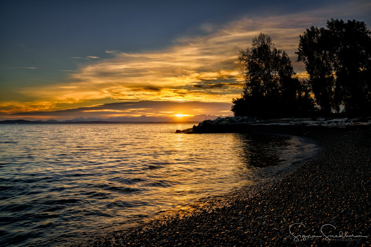 Tonight's Seattle Sunset from the Pocket Beach at Sculpture Park.