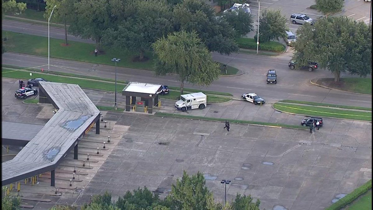 One person is dead after a shooting at a bank in NW Harris Co. Here's what we know