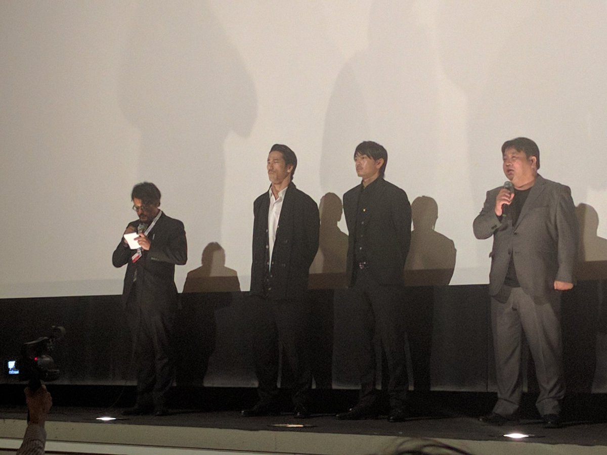 Sho Aoyagi, Naoki Kobayashi and Yoshinari Nishikori at the Montreal World Film Festival. https://t.co/BhWN0ukEIR