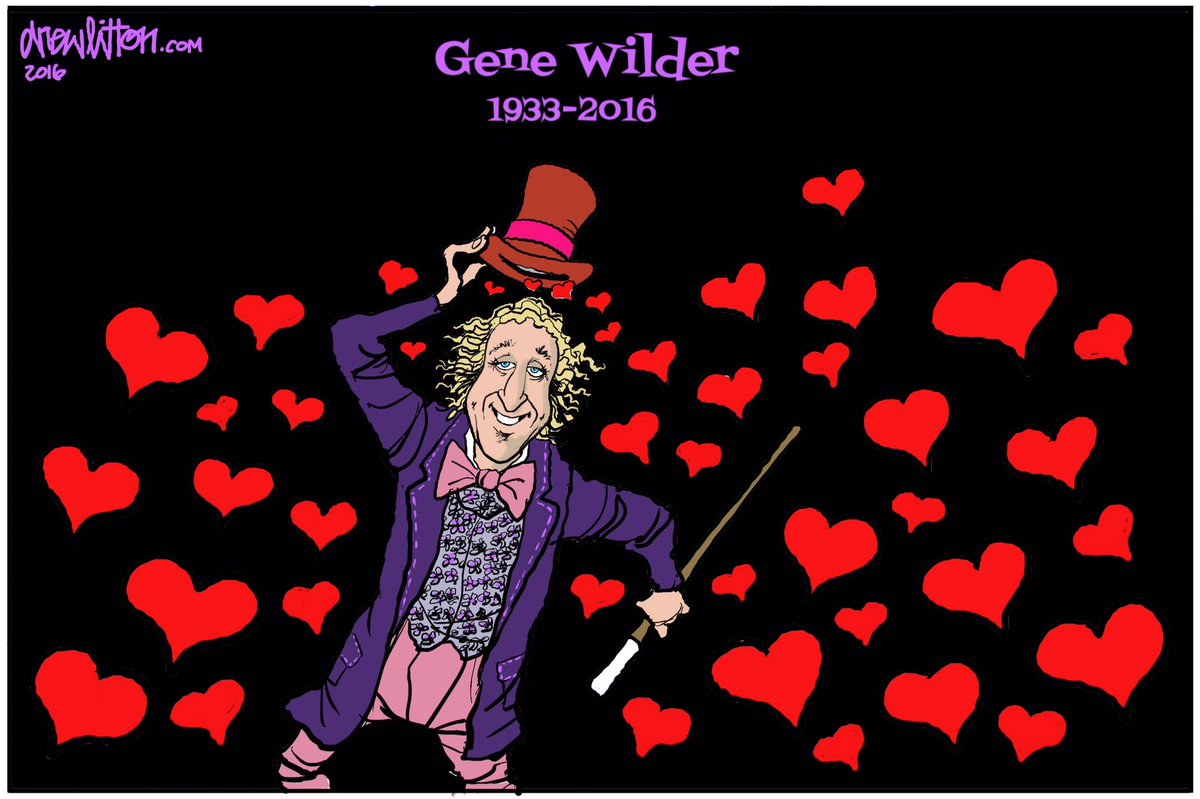 Cartoonist Drew Litton remembers the inimitable Gene Wilder. 9News
