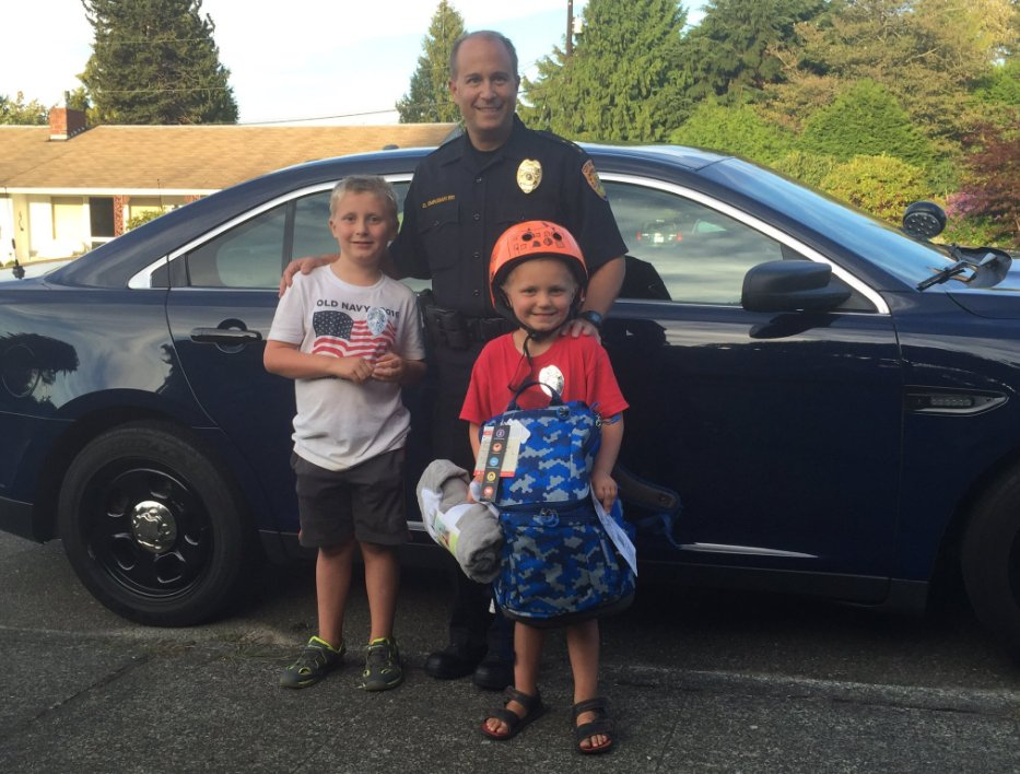 Everett police replace young boy's stolen, favorite backpackStory >>