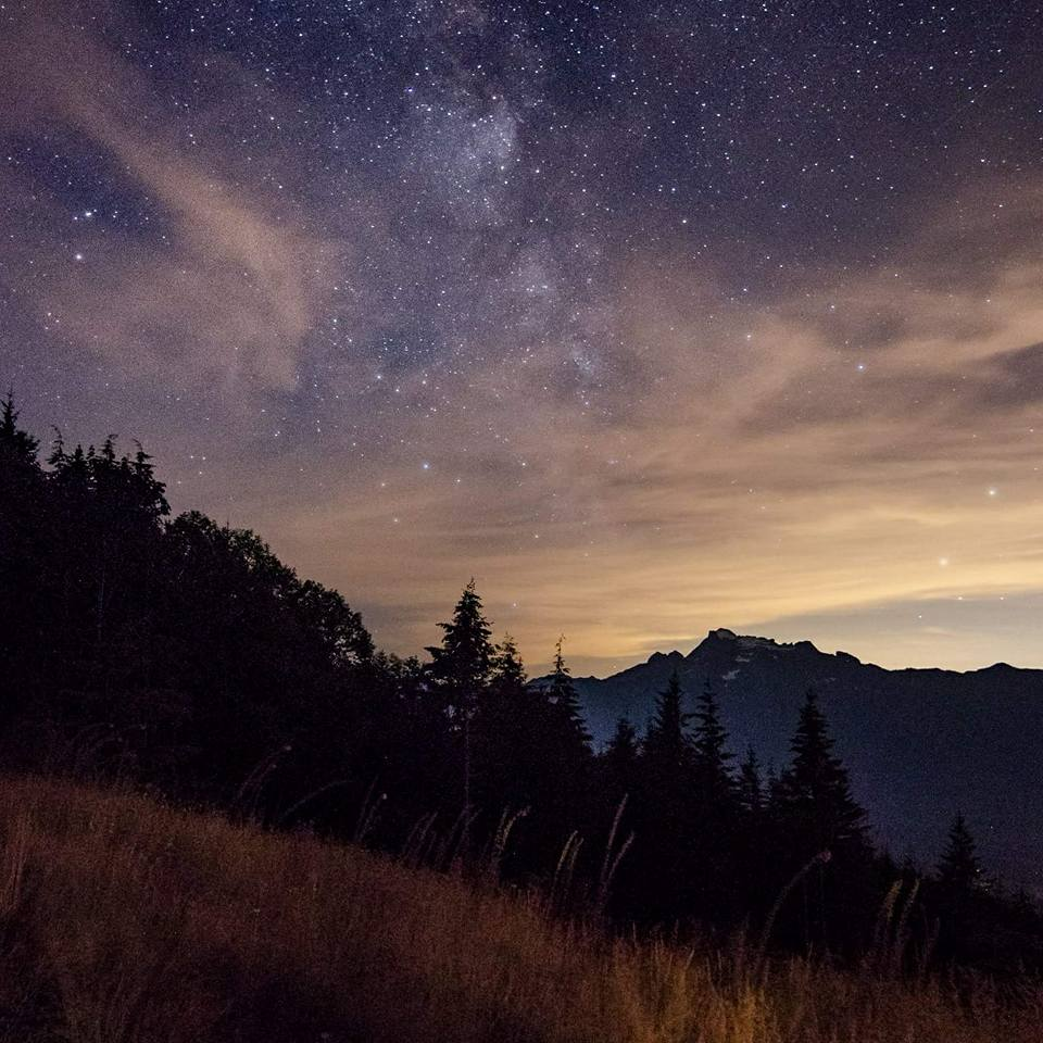 Milky Way over Whitehorse Mountain. + By JB Hawkins Photography.