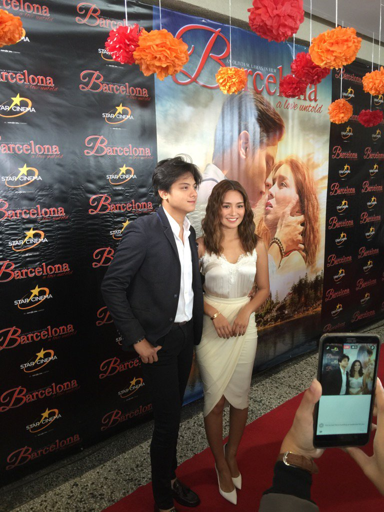 Daniel Padilla and Kathryn Bernardo arrive at the presscon of their movie Barcelona a love untold. https://t.co/InBOC5xmKs