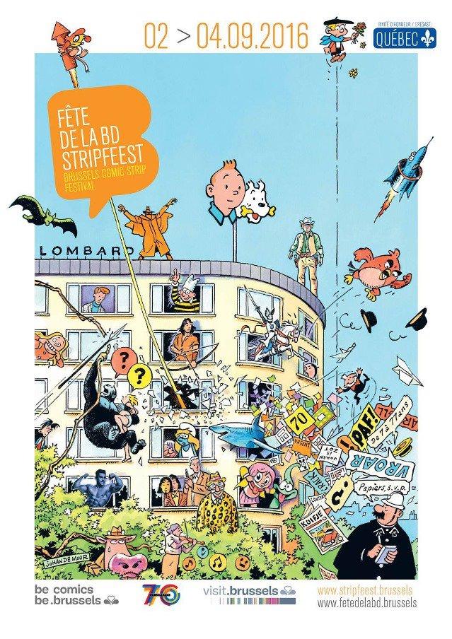 Brussels Comic Strip Festival 2016(BD祭り)始まります、2日(金)から4日(日)まで、タンタン・ラリーは日曜日に開催、いいね! https://t.co/FUITMqot9P