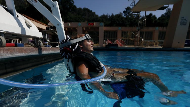 He can't move on his own, but that doesn't mean he can't train master divers