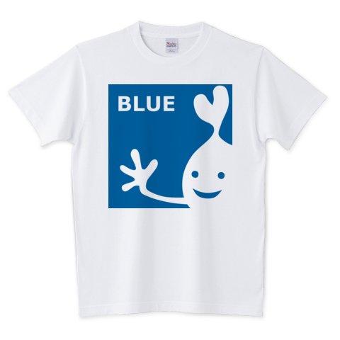 「BLUE」青の妖精みたいな変な生物  #Tshirt #BLUE #青 #アオ #蒼 #ブルー #キャラクター #kawaii #graphicdesign
