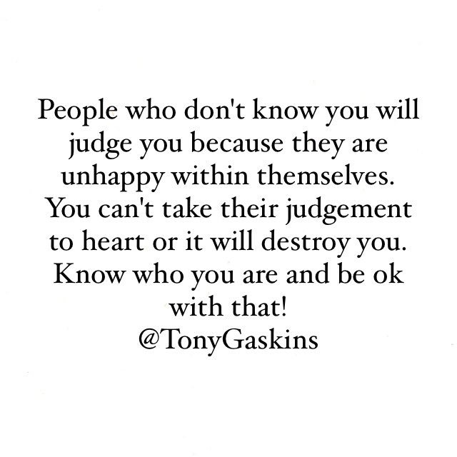 Tony A Gaskins Jr On Twitter They Will Judge You