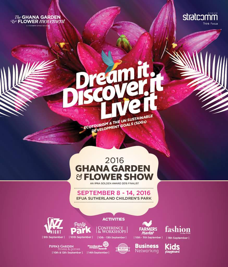 Ghana Garden & Flower Show 2016 features fun activities like; Fashion Extravaganza,Jazz Night, Party in the Park etc https://t.co/uBwZo87t5h