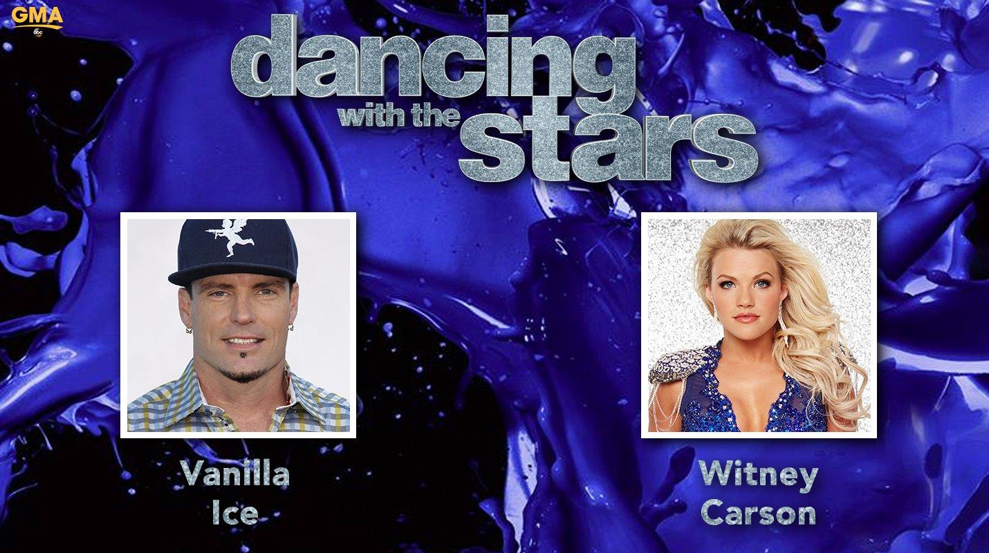 RT @GMA: #DWTS Pair: @vanillaice and @WitneyCarson!!  #DancingOnGMA @DancingABC https://t.co/neGgixtw7u