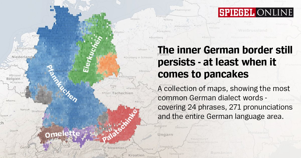Patrick Stotz on Twitter Mapping German dialects with 670000