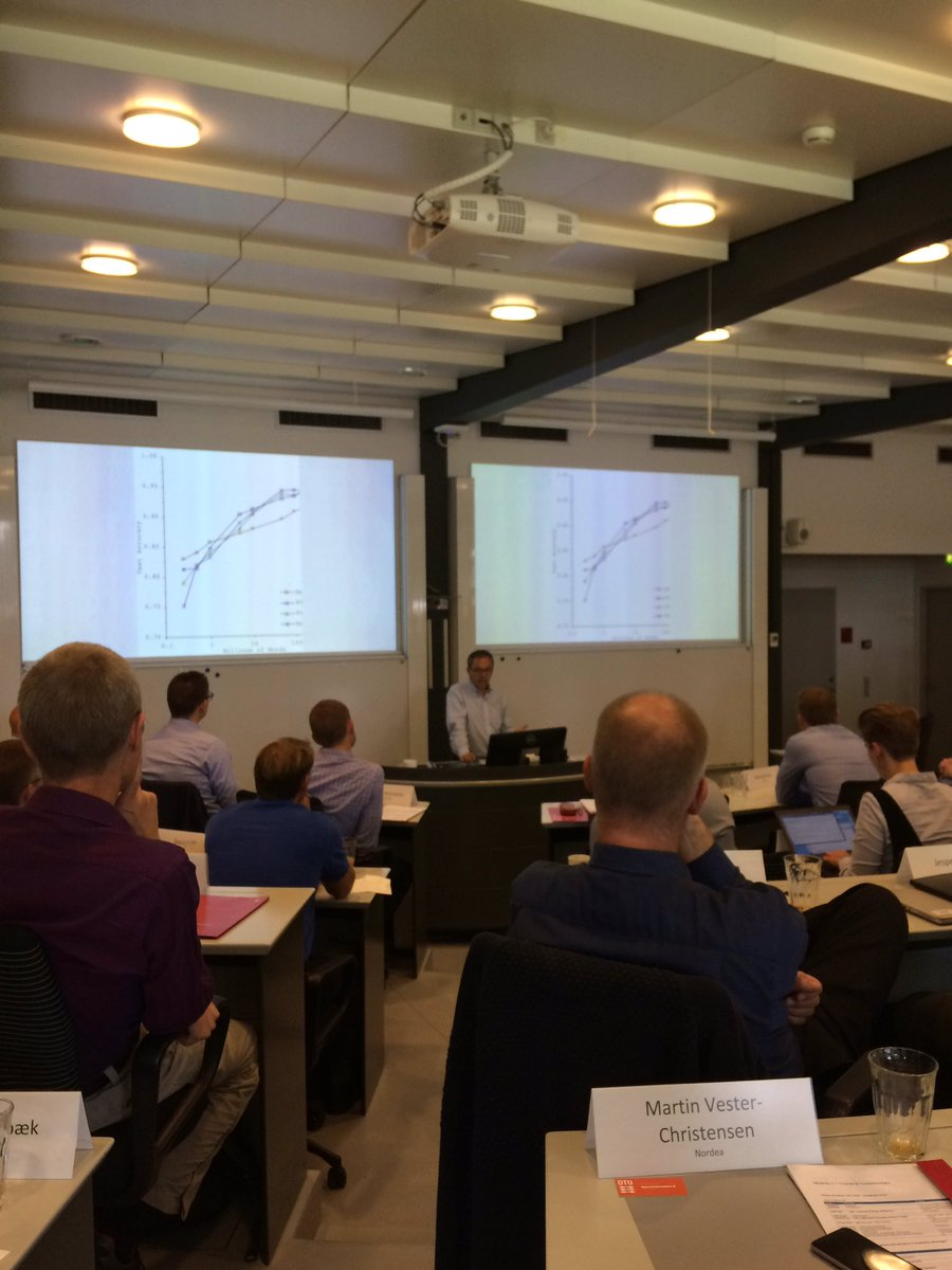 Ocham's Razor: the simplest model best for large data, though it was the worst for small data #DTU #BDBA @kncukier