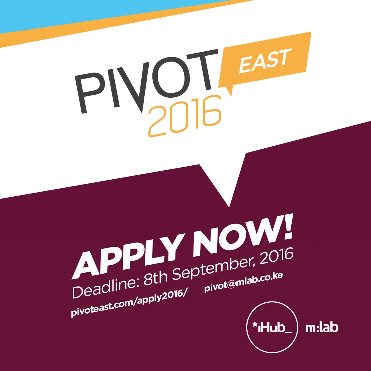 #Startups looking to compete @PIVOTEast 2016, the call for applications is ongoing. Apply now https://t.co/VQg6vwui9W