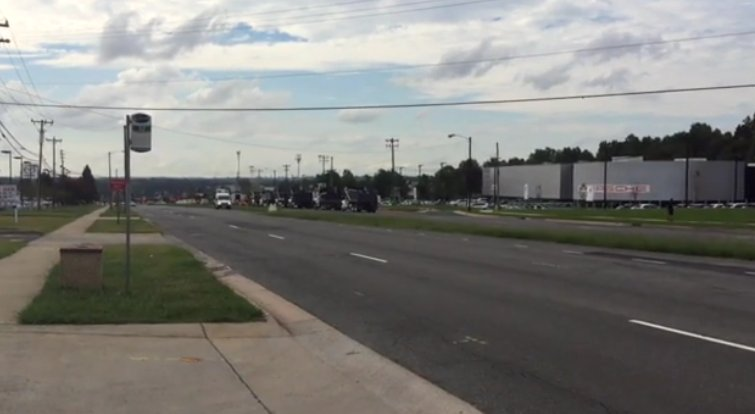 Only one lane of outbound Independence Boulevard is open this morning