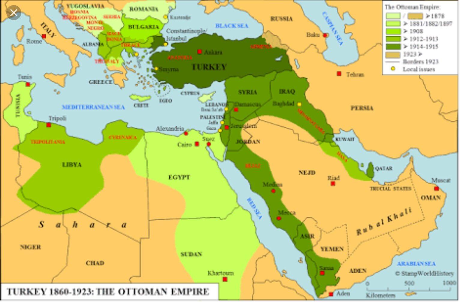 """الدولة العثمانية Photo: الحضارة العثمانية On Twitter: """"تقلص مساحة الدولة العثمانية"""