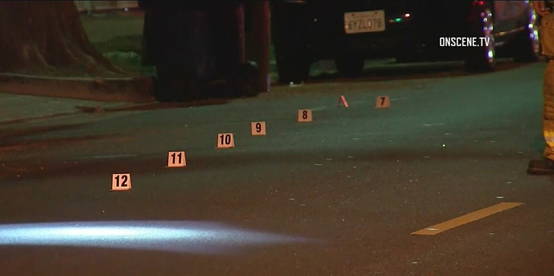 Homicide detectives say a man was found shot to death in the driveway of a home in Reseda