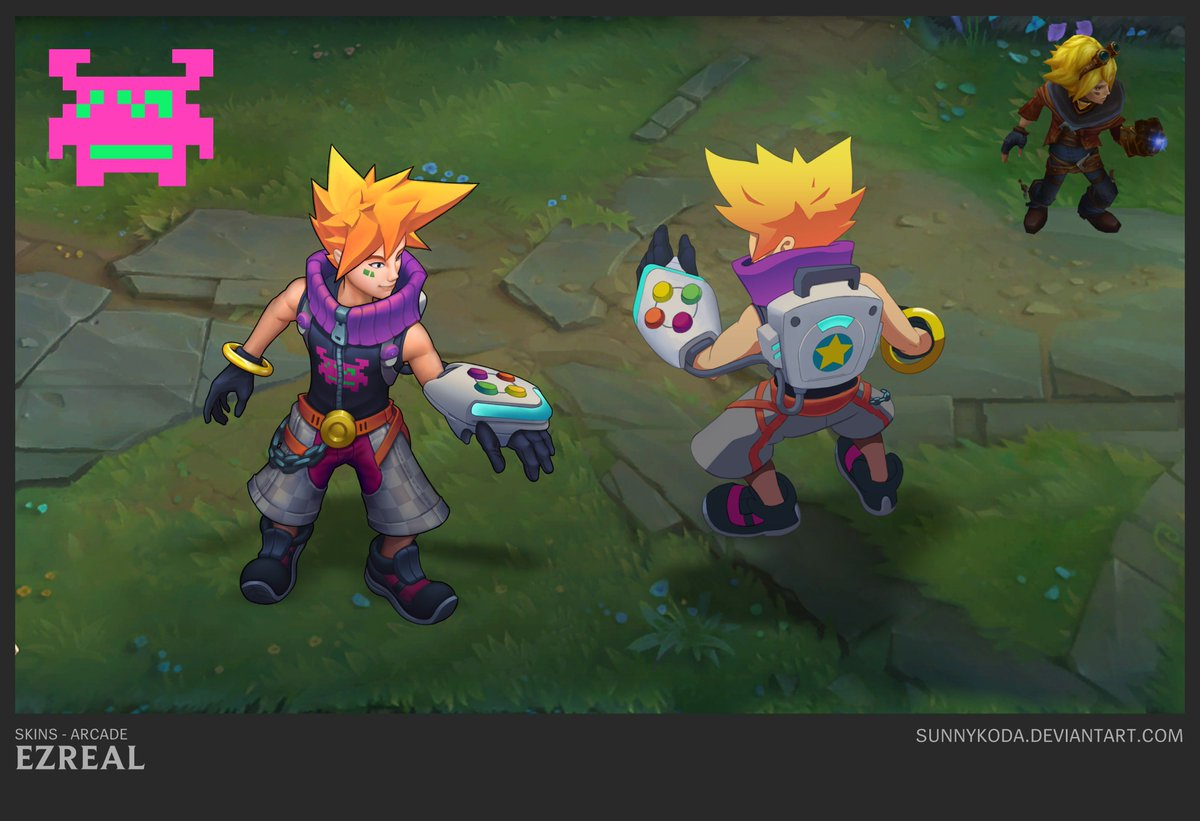 Sunny Koda On Twitter This Ones A Little Late Arcade Ezreal