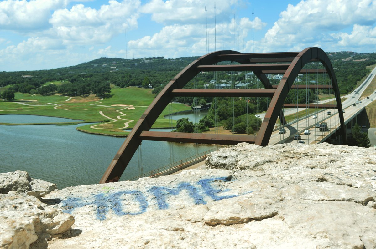 This is home, and part of our growing series, AllAroundAustin. See a 360 view of 360 Bridge