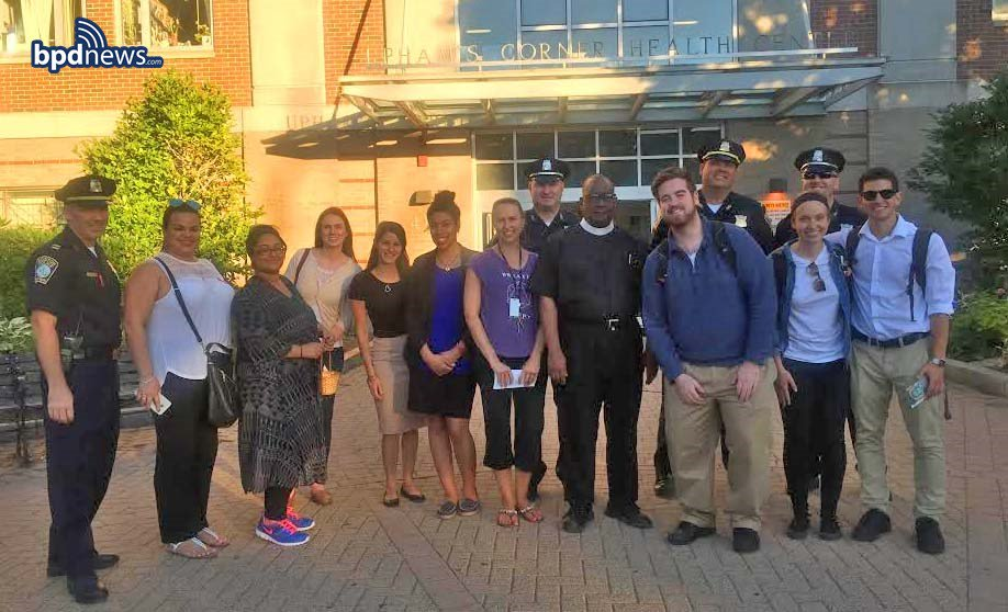BPD Officers from District C-11 wanna thank e'body who turned out for last night's PeaceWalk on Hancock St in DOT!