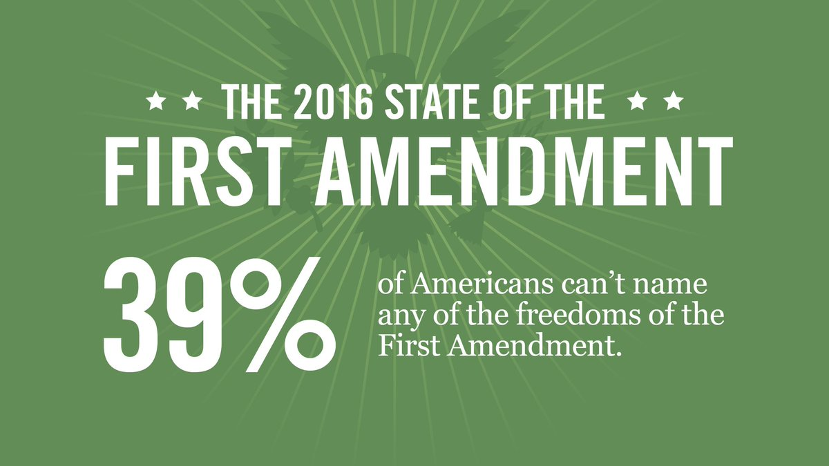 """newseumed on twitter: """"how many first amendment freedoms can your"""