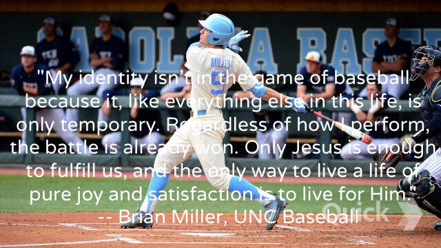 'Regardless of how I perform, the battle is already won.' - Brian Miller