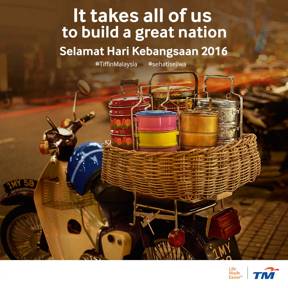 Malaysians make Malaysia great.  Selamat Hari Kebangsaan.  #TiffinMalaysia #SehatiSejiwa https://t.co/RO3PcZwvm0