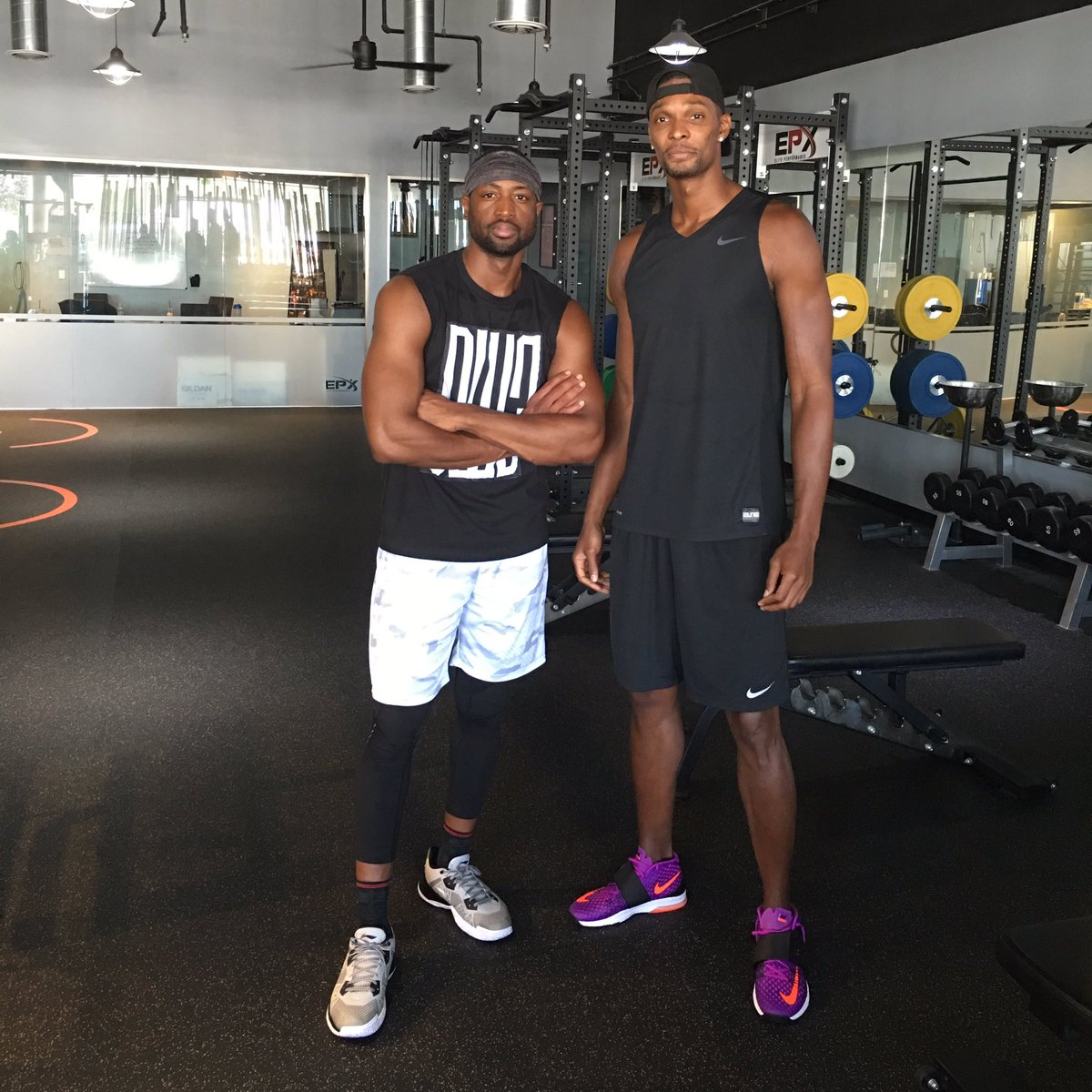 """Dwyane Wade Workout: Chris Bosh On Twitter: """"Great Workout With The Homie"""