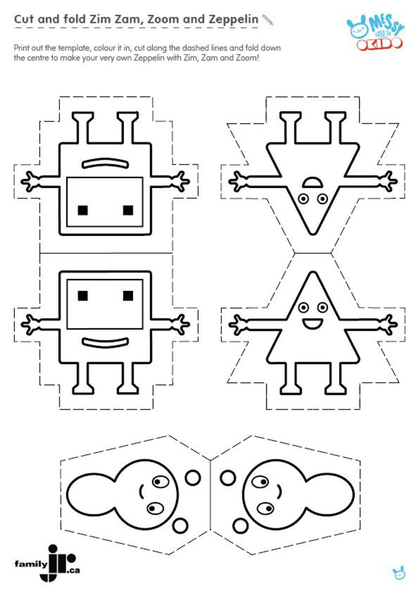Family Jr On Twitter Cut Colour Fold These Printable Templates