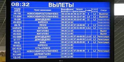Аэропорт Кольцово  Онлайн табло  Расписание рейсов