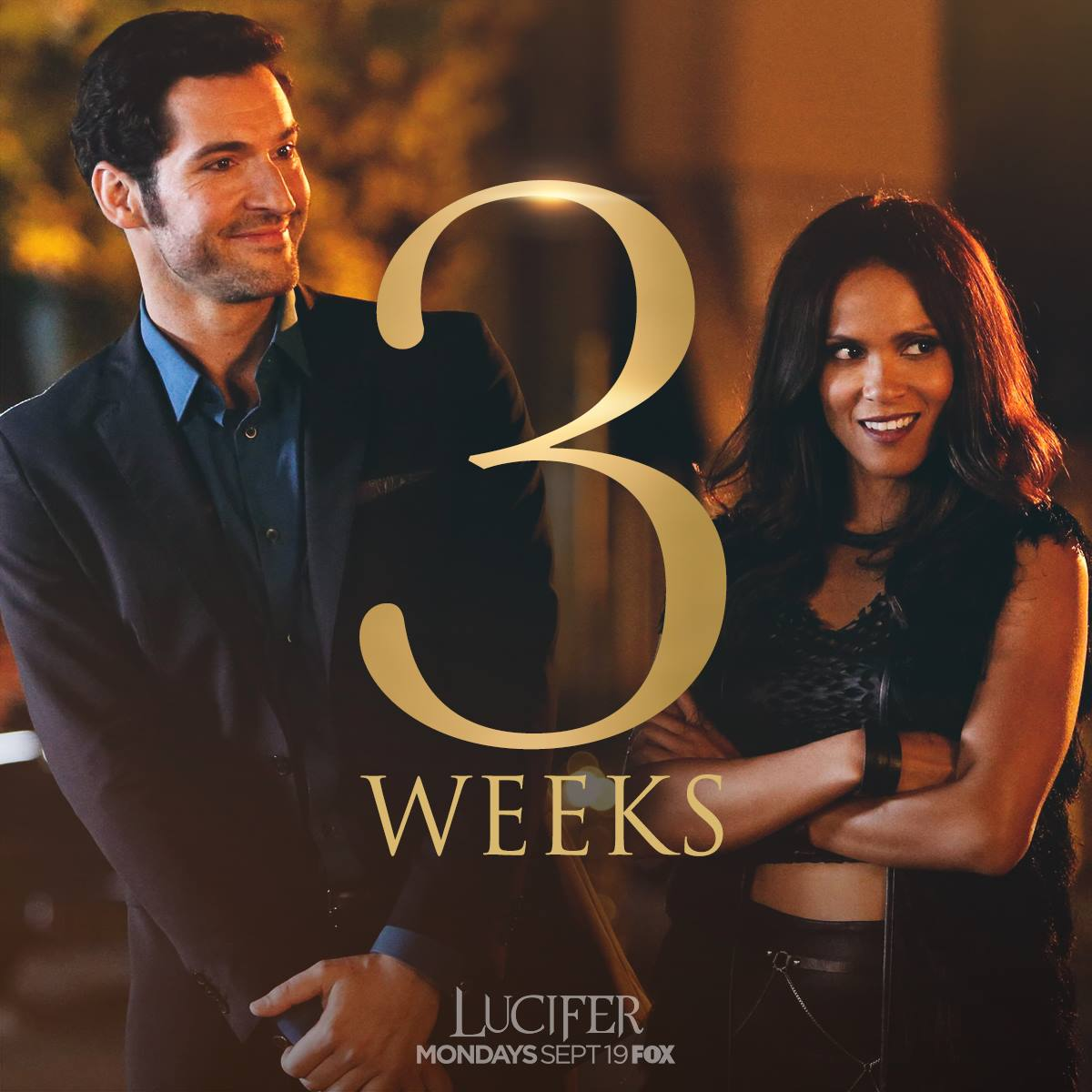 Only 3 weeks until #LuciferSeason2 - September 19th - FOX.  #Lucifer https://t.co/4cwxwSDdZa