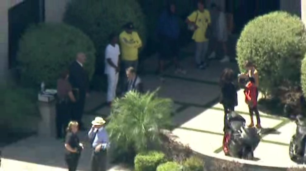 Multiple people come out of Chris Brown's Tarzana home following hours-long standoff