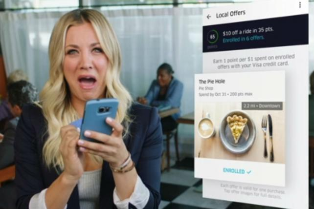 .@visa and @uber dole out free rides in new effort with Kaley Cuoco https://t.co/xYPZWqcseZ https://t.co/9EzdFIkQOp