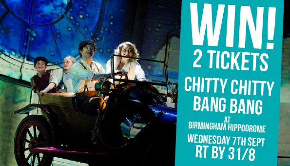RT @WhatsOnBrum: WIN! 2 TICKETS to @ChittyMusical ft. @leemeadofficial at @brumhippodrome 7-18 September. Simply RT by 31/8 to enter! https…