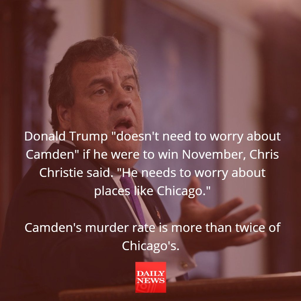 To Chris Christie, Donald Trump can do anything!... except help Camden, New Jersey