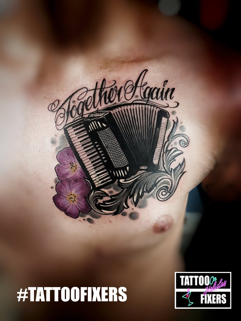 the gallery for accordion tattoo. Black Bedroom Furniture Sets. Home Design Ideas