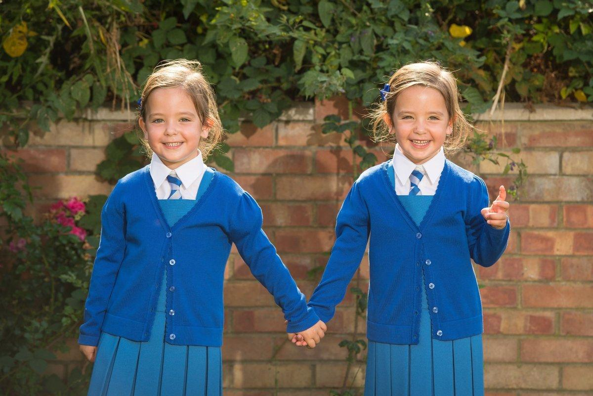 These conjoined twins had a small chance of living. Now they're at their first day of school