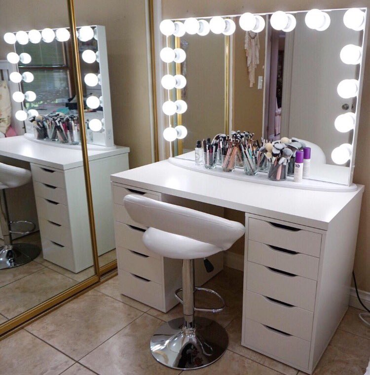 The best lighting for flawless makeup application if switching out your bathroom mirror or light fixtures is not an option then a lighted makeup mirror is the next best thing there are many different aloadofball Gallery