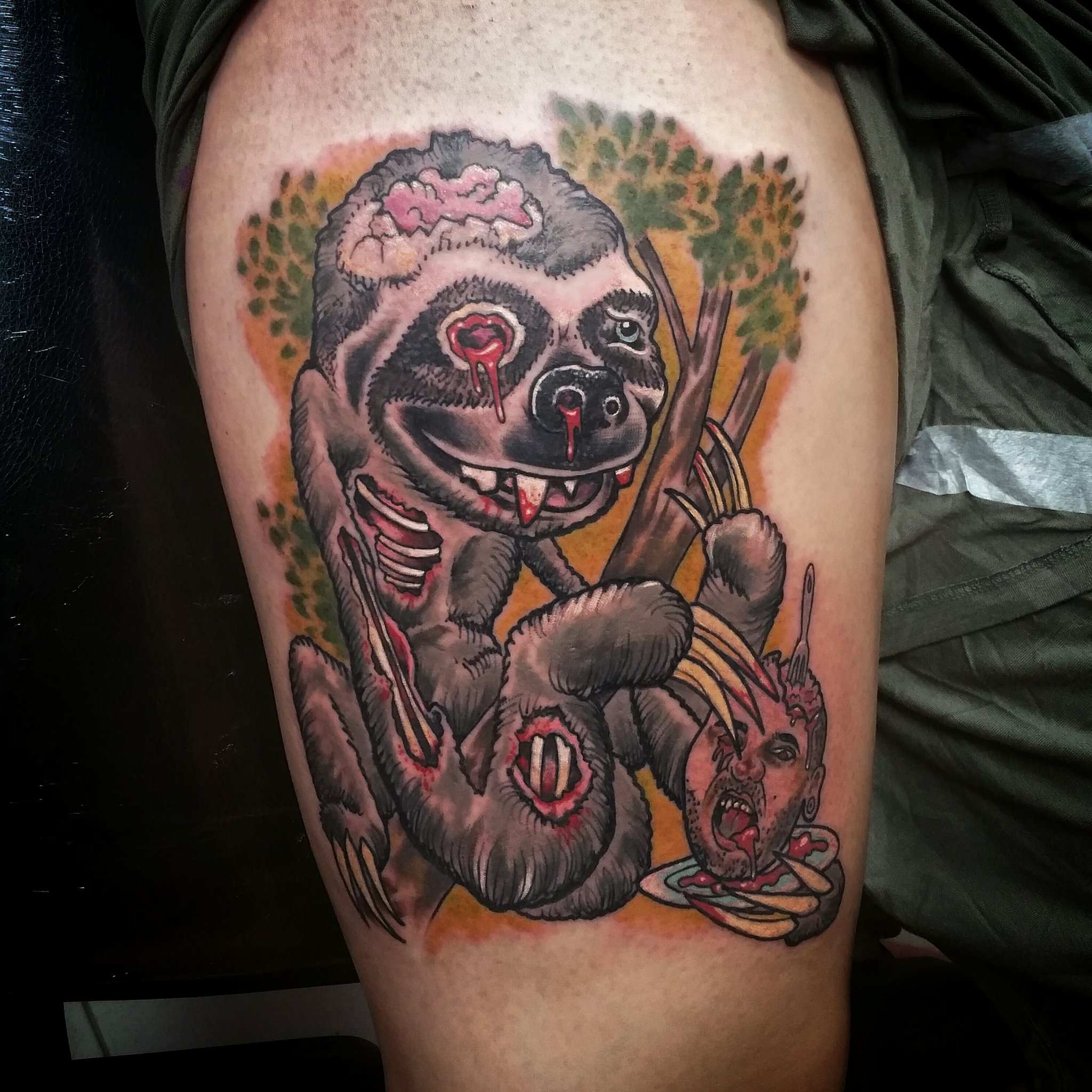 """Tattoo Fixers Sketch Google Search: Sketch Reppin Ink On Twitter: """"Check It Out Zombie Sloth"""
