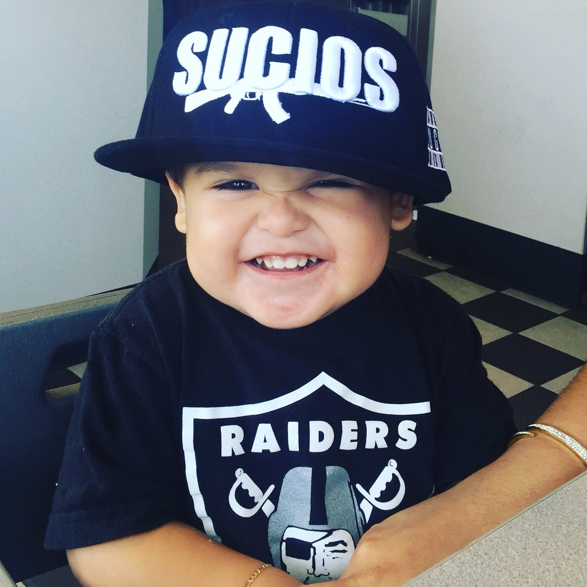 Cela On Twitter My Baby Reppin The Sucios Hat At Kinglilg