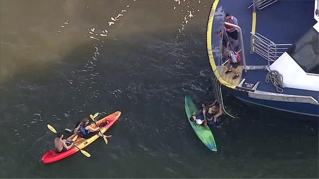 Ferry hits kayakers in Hudson River, several pulled from water