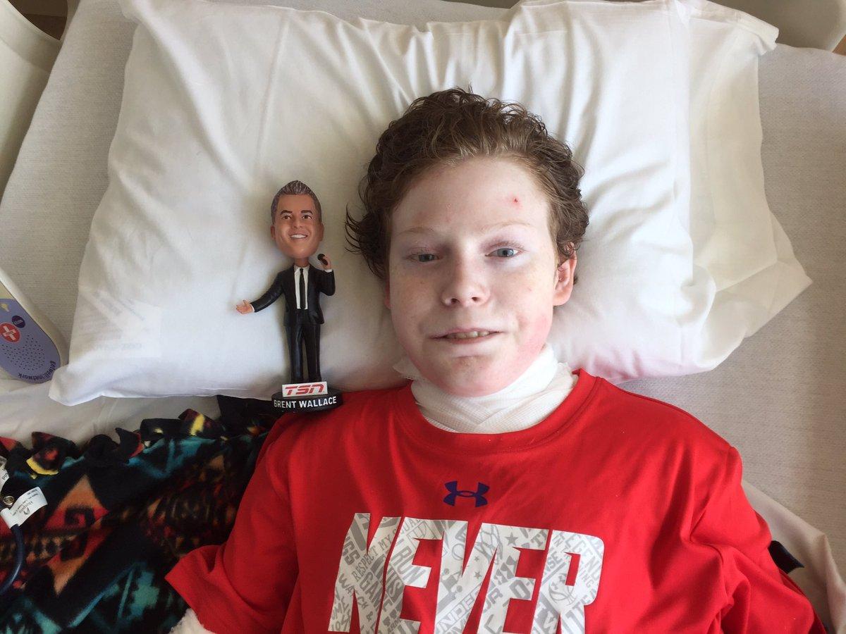Huge day for @pitrej02. He begins his chemo treatments to prepare his body for the bone marrow transplant #superhero https://t.co/F7RL92sxCn