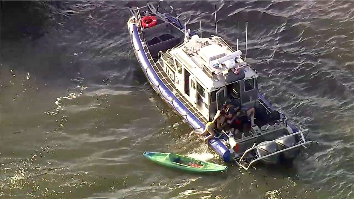 As many as 10 kayakers struck by ferry in Hudson River